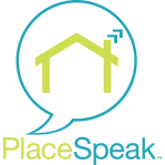 Place Speak logo that links to the Cowichan Lake New Weir Design topic